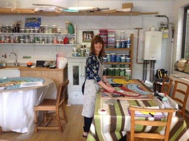 Jackie in her workshop