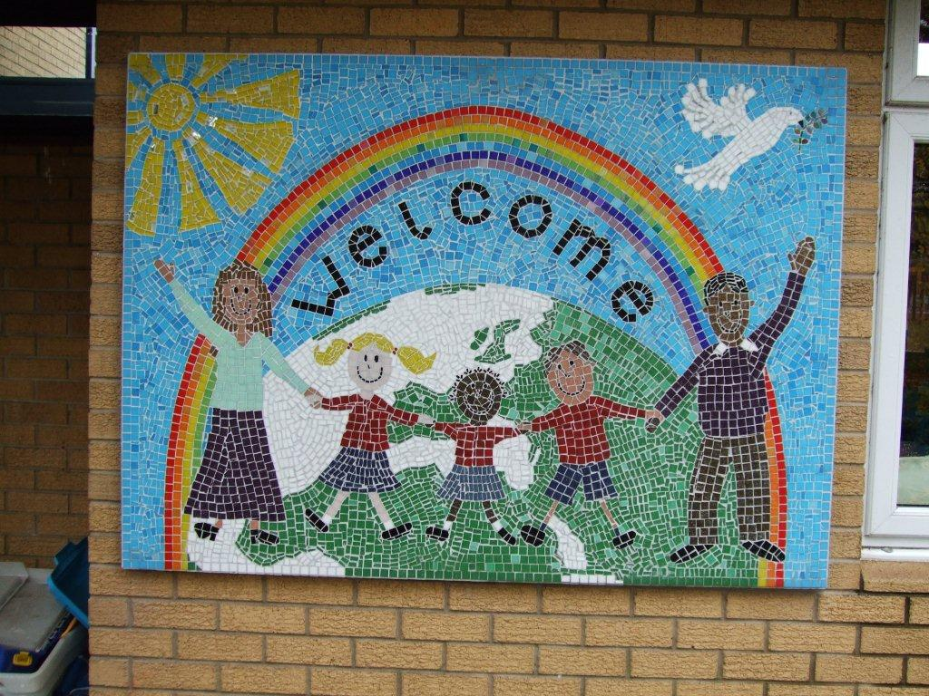 Welcome Mosaic at the Oratory